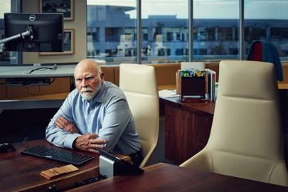 Genomics pioneer Craig Venter in his office at Human Longevity, Inc in La Jolla, California