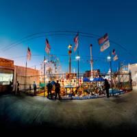 Coney Island at dusk