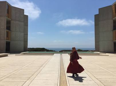 The plaza of the Salk Institute for Biological Studies in California