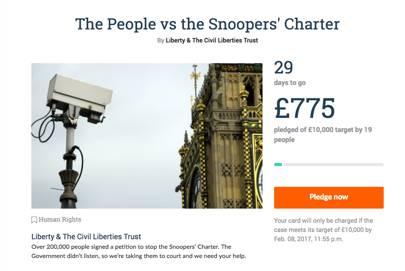 Liberty's crowdfunding campaign