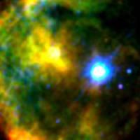 False colour X-ray image of 1E 2259 586