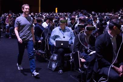 Mark Zuckerberg at Samsung's Mobile World Congress event