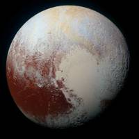 Pluto in colour