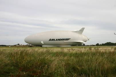 Hybrid Air Vehicles Airlander 10 outside the hangar