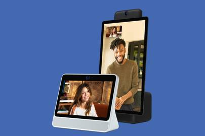 hands on with facebook portal its new video calling home speaker wired uk. Black Bedroom Furniture Sets. Home Design Ideas