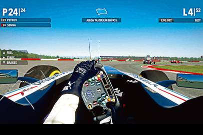 F1 2013 provided hyper-realistic driving effects for the tests