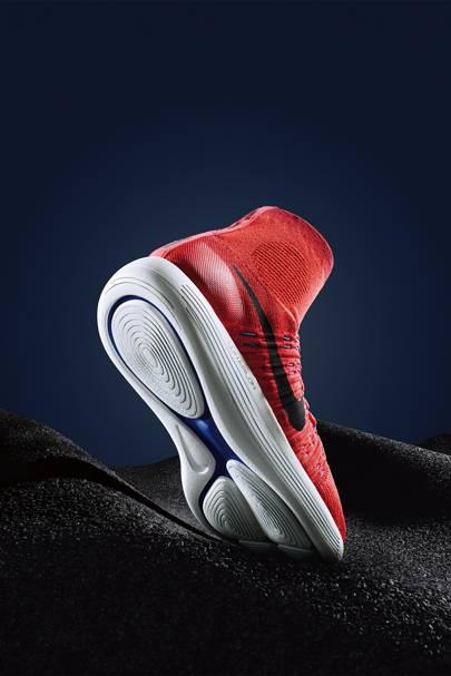 Nike's knit construction makes it possible to tailor specific areas for optimal breathability, stretch and support