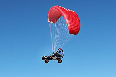 Should the engine fail, the SkyRunner will glide to the ground -- but it carries a ballistic reserve parachute, just in case