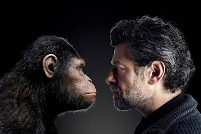 Andy Serkis faces Caesar, who he plays in Dawn of the Planet of the Apes