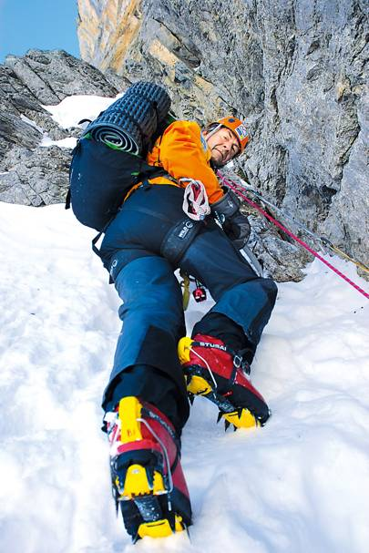 Fiennes on the Eiger's north face in 2007
