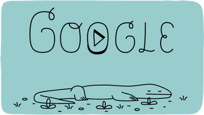 Meet the Komodo dragon, the giant lizard in today's Google Doodle