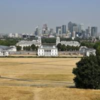 UK heatwave 2018 Greenwich Park