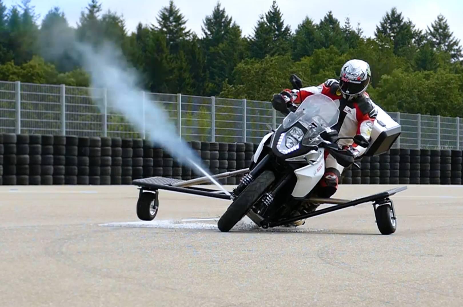 Image result for bosch motorbike slipping corner