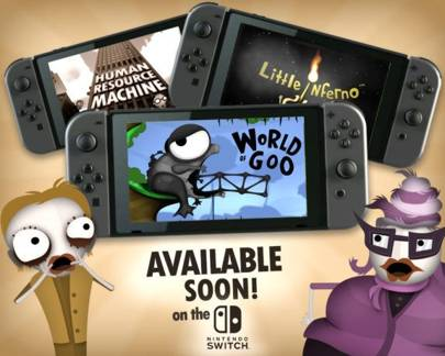 Classic indie games World of Goo, Little Inferno, and Human Resource Machine are heading to Nintendo Switch