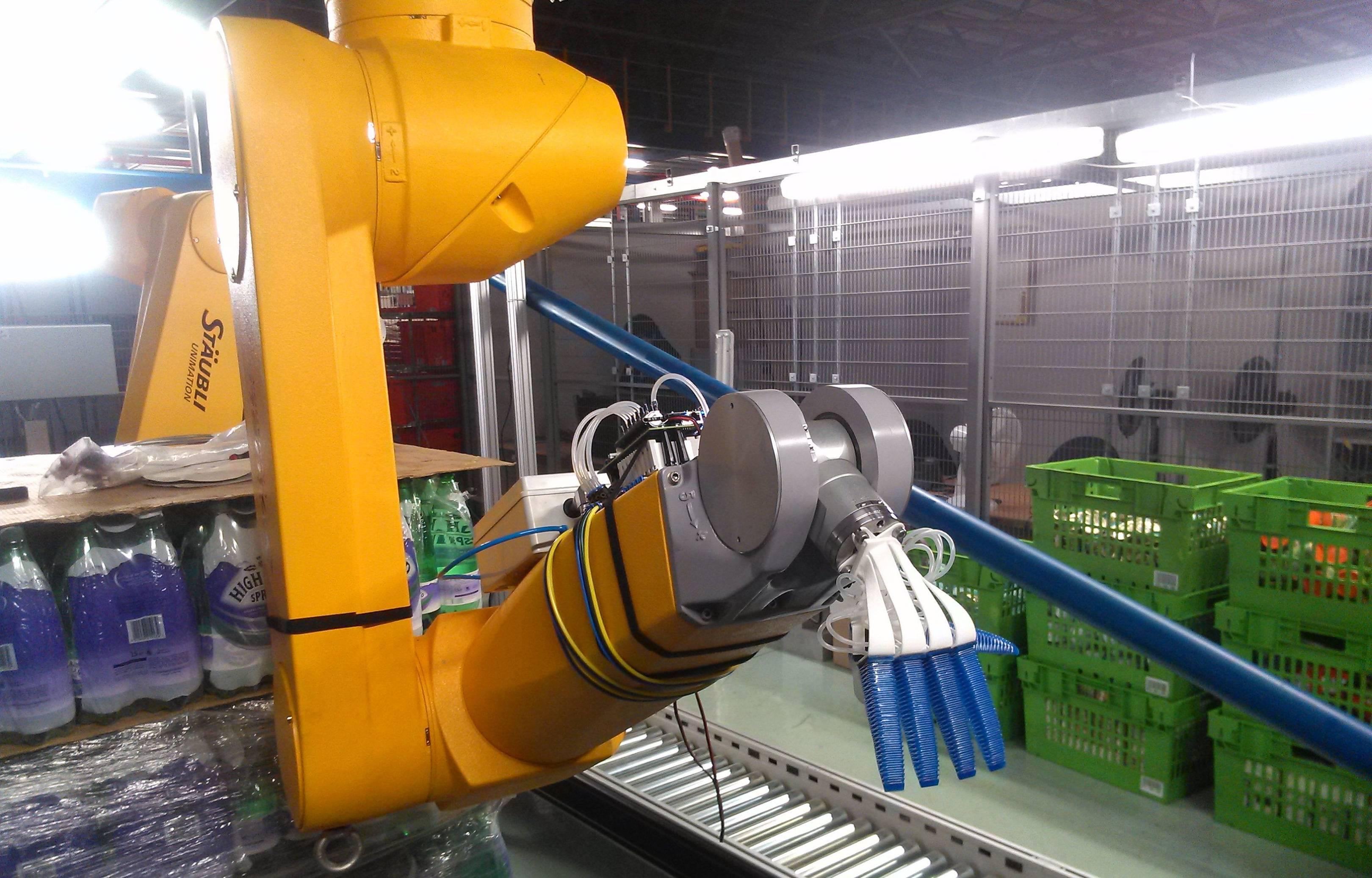 Ocado's 'soft' robot hand picks fruit without bruising it