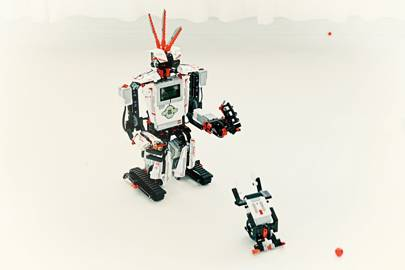 """The third generation of the Lego mindstorms range, EV3, hits shelves this autumn. A """"smart brick"""" connects with sensors to create robots controllable via an Android or iOS device"""