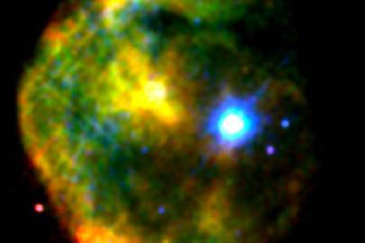 False colour X-ray image of 1E 2259 586