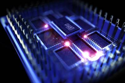 Rendered simulation of a quantum processor