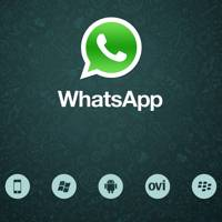 WhatsApp logo with old supported mobile platform icons