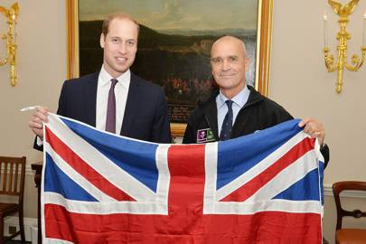 Worsley pictured with Prince William in October 2015, shortly before he departed for Antarctica