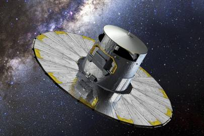 An impression of Gaia at work at the L2 point in space