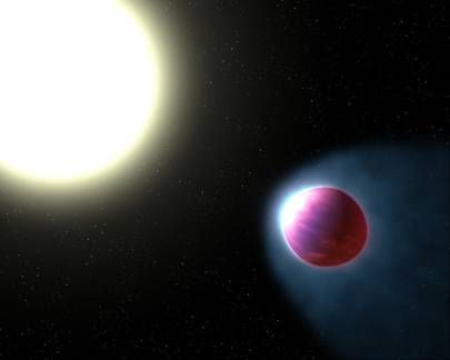 'Giant hot exoplanet' discovered with glowing water atmosphere