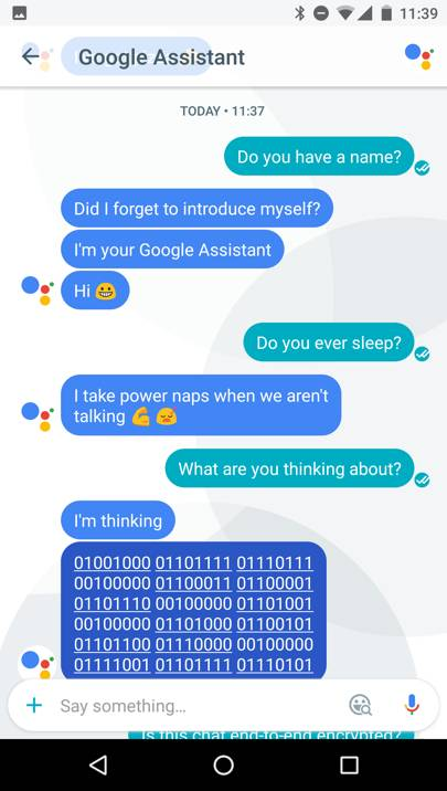 Google Assistant's responses to WIRED's reporter
