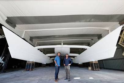 Jérôme Delafosse and Victorien Erussard have developed the world's first boat to be powered solely by hydrogen generated by renewable energies.