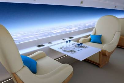 This supersonic jet is too fast for windows
