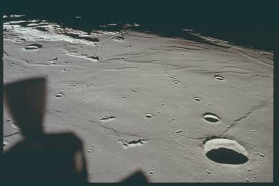 AS11-37-5437 - Apollo 11 Hasselblad image from film magazine 37R - Orbit, Post-Landing, Post-EVA