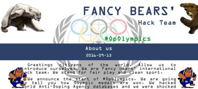 In August 2016 the Fancy Bear group targeted the World Anti-Doping Agency and stole confidential medical data