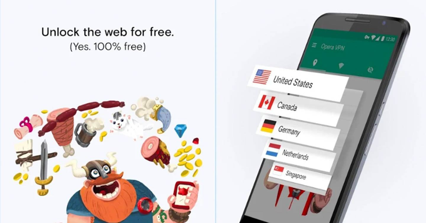 Opera's free VPN is now available on Android, iOS and desktop