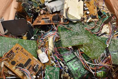Circuit boards removed at Panasonic e-waste recycling centre