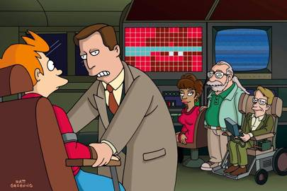 "Stephen Hawking in ""Anthology of Interest I"", episode 16, series two of Futurama, in 2000"