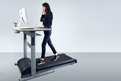 LifeSpan TR1200-DT7: It takes an hour or two before you can walk and write