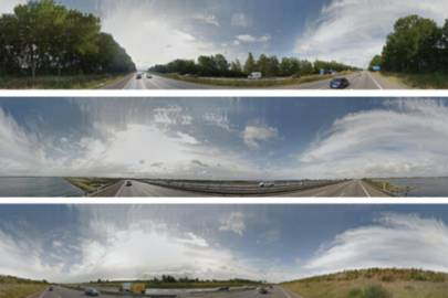 The system uses a neural network to interpret scenic views in Google Street View images