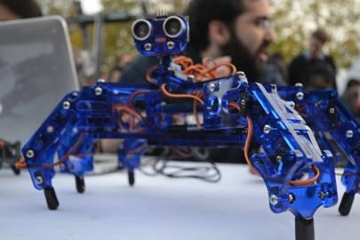 A hexapod robot from a Maker Faire in Somerville, Massachusetts