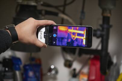 Flir also announced a third-generation of thermal camera attachments for phones