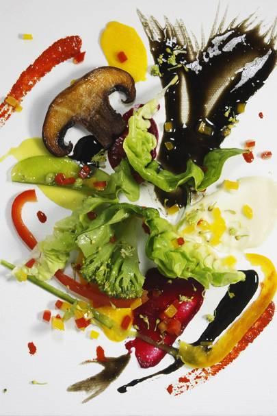 Michel's Kandinsky-inspired salad