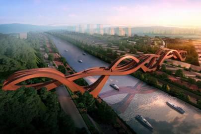 Möbius ring-inspired bridge to be built in China