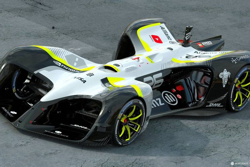 Electric Race Car Set Ai