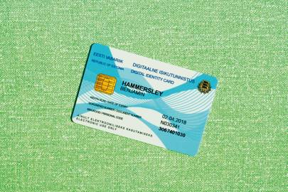 An Estonian e-residency identity card
