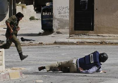 Media watchdog Reporters Without Borders says at least 25 professional journalists have been killed in the Syrian conflict along with 70 citizen journalists