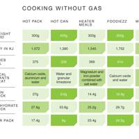 Cooking without gas
