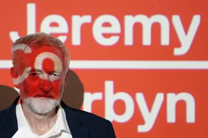 Labour party leader Jeremy Corbyn speaks at the launch of his 'digital democracy manifesto'