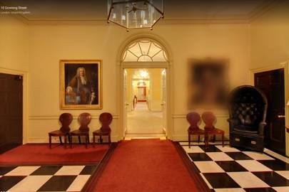 The entrance hall to 10 Downing Street