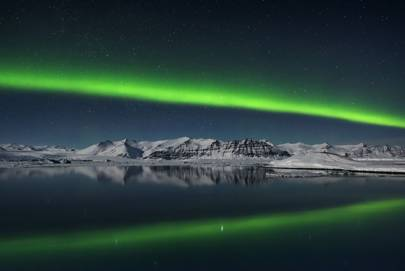 Northern Lights over Jokulsarlon
