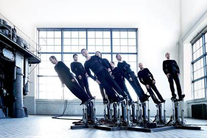 The singers' platforms are computer-controlled and pre-programmed to move in sync with their voices