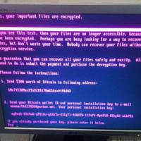 NotPetya / Petya ransomware photographed in Ukraine on June 27 2017