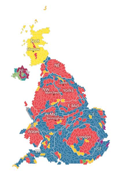 How Election Maps Reveal The Politics Of Geography WIRED UK - Us election 2016 map the guardian